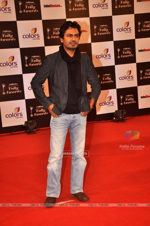 Nawazuddin Siddiqui was at the Indian Telly Awards