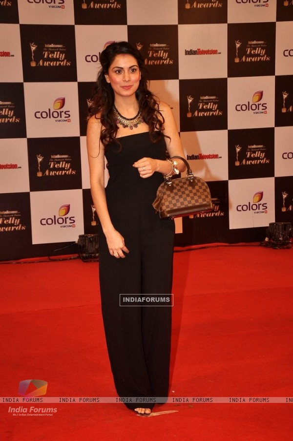 Shraddha Arya was seen at the Indian Telly Awards