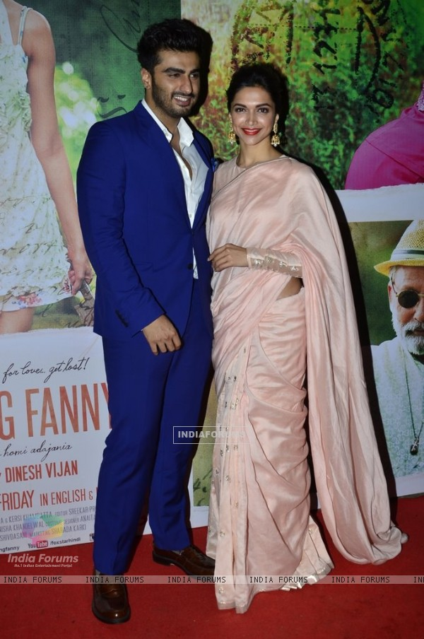 Arjun Kapoor and Deepika Padukone at the Special Screening of Finding Fanny