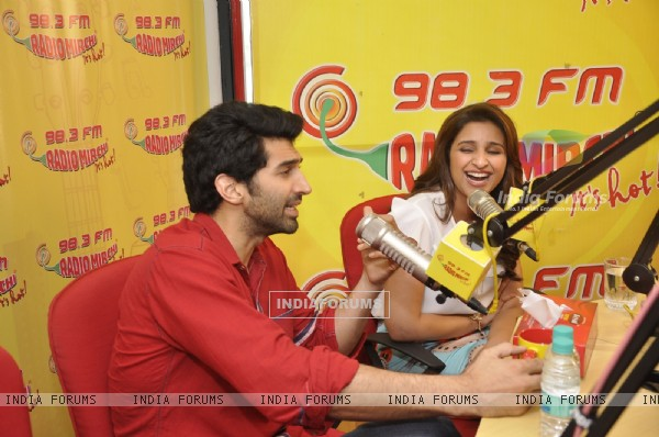 Aditya Roy Chopra speaks on air at the Promotions of Daawat-e-Ishq on Radio Mirchi on 98.3