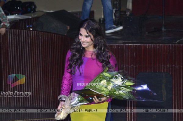 Vidya Balan felicitated at the Charity Music Concert