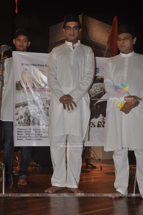 Pankaj Vishnu was at the Launch of the Film 'Godse'