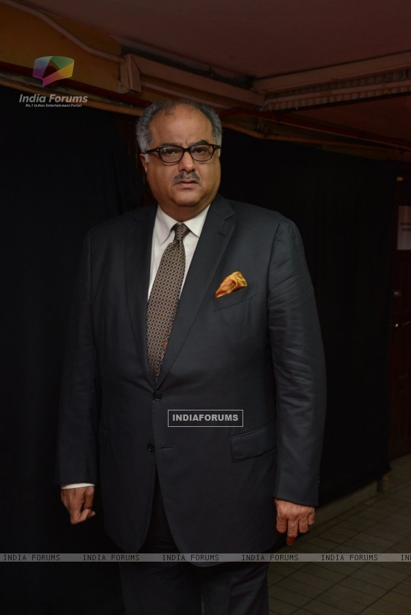 Boney Kapoor poses for the media at Mircromax SIIMA Awards Day 1