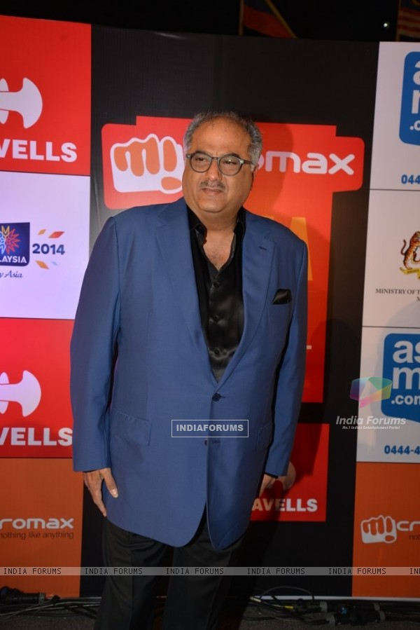 Boney Kapoor poses for the media at Mircromax SIIMA Awards Day 2