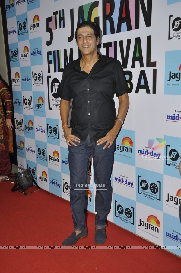 Chunky Pandey poses for the media at 5th Jagran Film Festival Mumbai