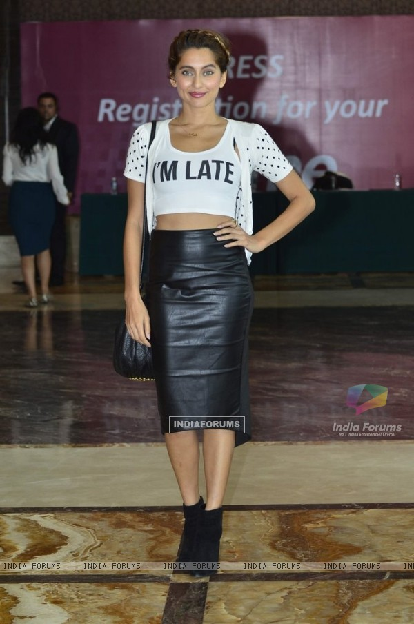 Anusha Dandekar poses for the media at the Launch of 'Fame Fashion Network'