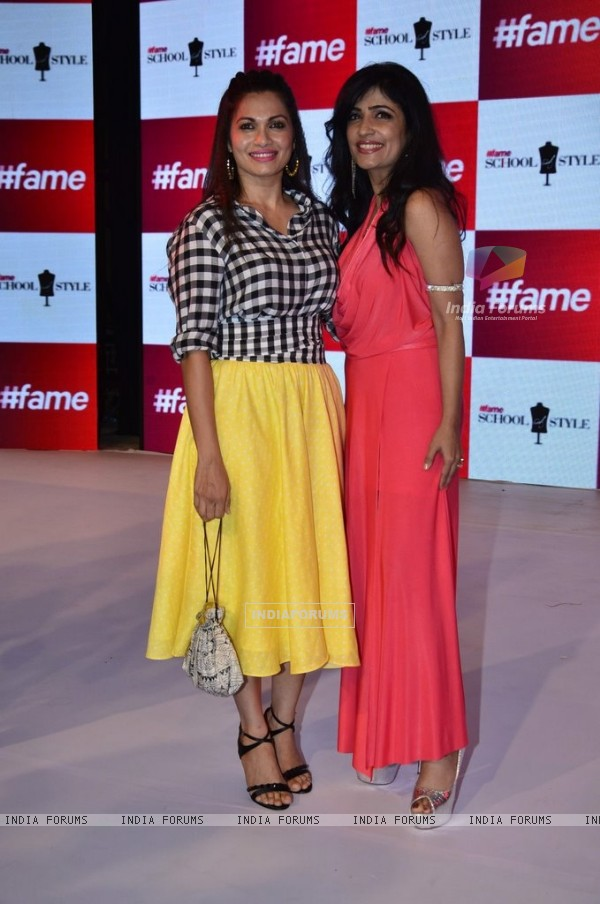 Maria Goretti and Shibani Kashyap pose for the media at the Launch of 'Fame Fashion Network'