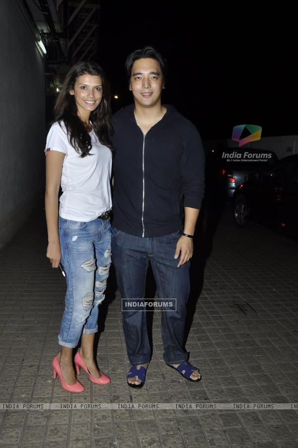 Rinzing Denzongpa was snapped with a friend at PVR