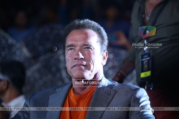 "Arnold Schwarzenegger snapped at the Audio Launch of the Movie ""I"""