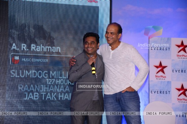 Ashutosh Gowariker and A.R. Rahman at the Poster Launch of 'EVEREST'