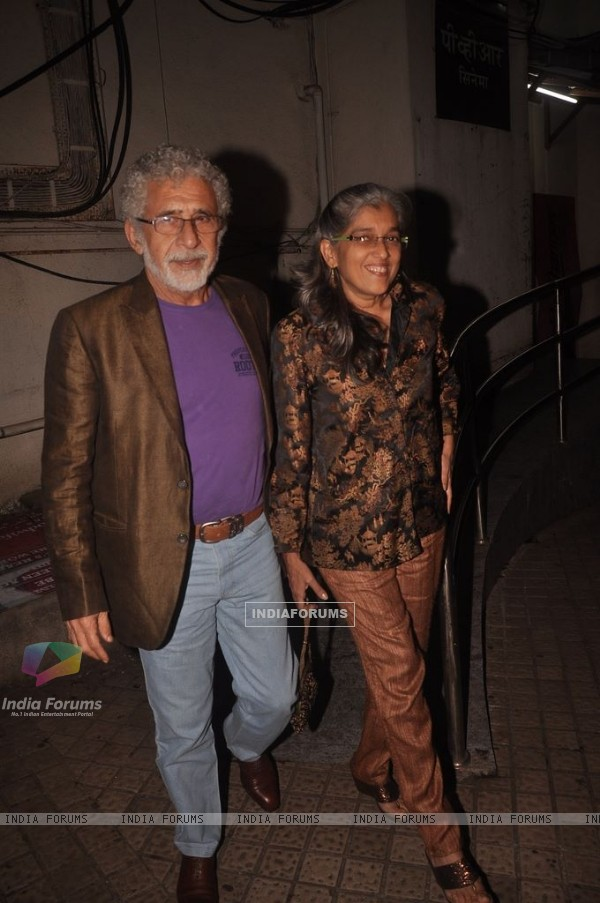 Naseeruddin Shah snapped with Ratna Pathak at PVR
