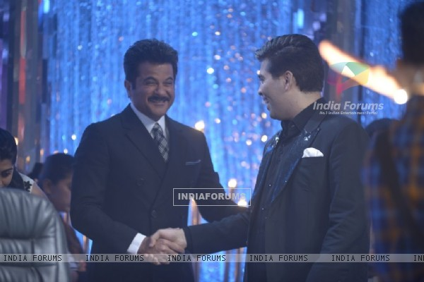 Anil Kapoor snapped with Karan Johar at Jhalak Dikhhlaa Jaa Grand Finale