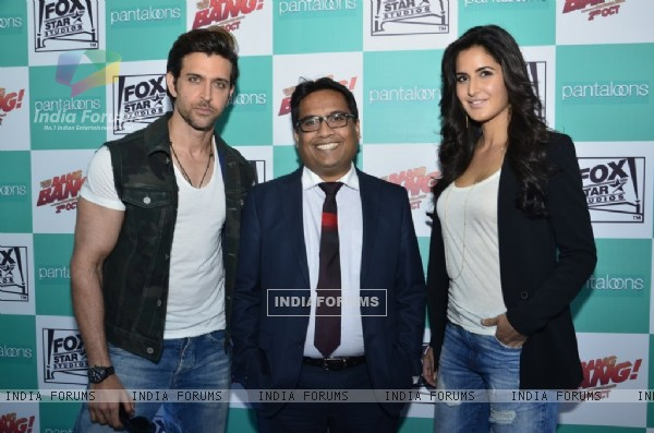 Hrithik Roshan and Katrina Kaif at the Promotion of Bang Bang