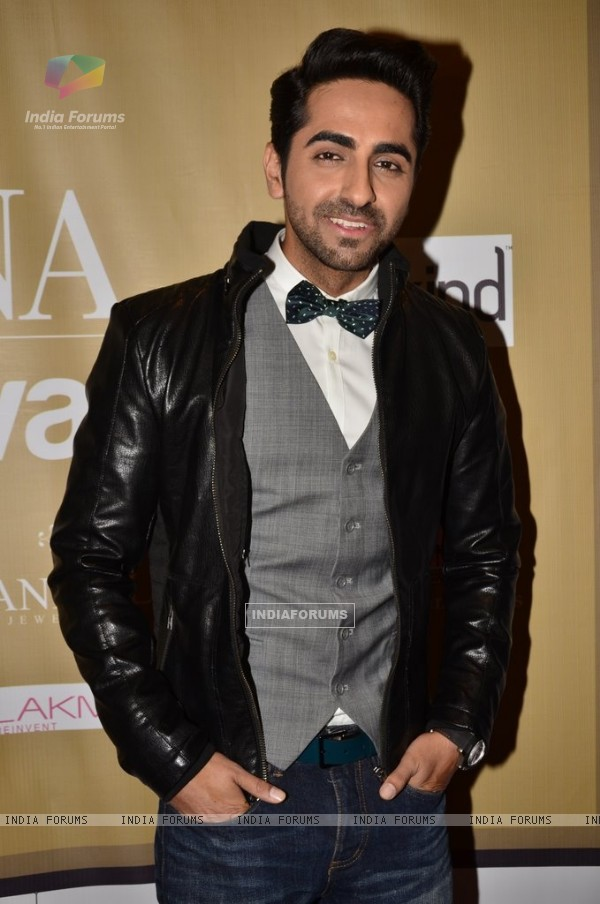 Ayushmann Khurrana poses for the media at the Femina Style Diva 2014 Finals