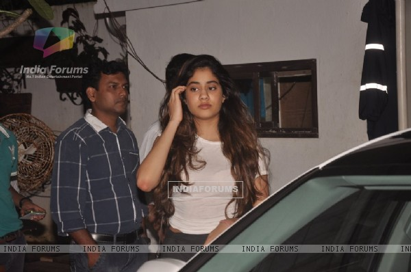 Jahnavi Kapoor snapped at the Screening of Marathi Movie Taapal