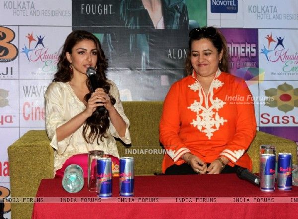 Soha Ali Khan addresses the media at the Promotion of Chaarfutiya Chhokare