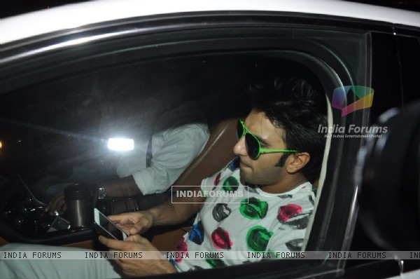 Ranveer Singh snapped at the Completion Bash of Dil Dhadakne Do
