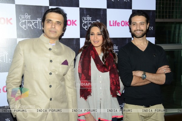 Harsh Chhaya, Sonali Bendre and Apurva Agnihotri at the Press Conference of Ajeeb Dastaan Hai Ye