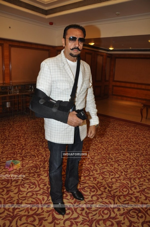 Gulshan Grover poses for the media at the bash