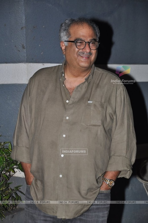 Boney Kapoor snapped at Sanjay Kapoor's bash