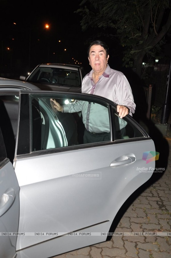 Randhir Kapoor snapped at Sanjay Kapoor's bash