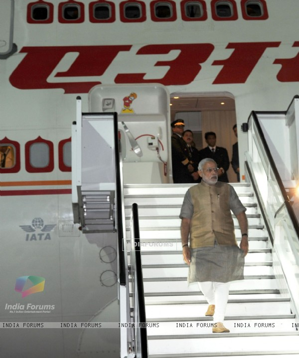 Narendra Modi's arrives at the United States of America Airport