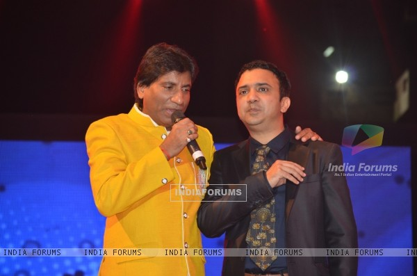 Raju Shrivastav with Ram Sampat at the Music Launch of Ekkees Toppon Ki Salaami
