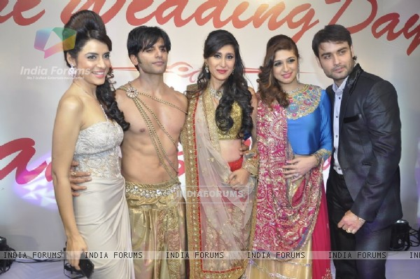 TV Celebs pose for the media at the Wedding Show by Amy Billiomoria