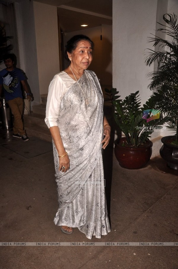 Asha Bhosle snapped at the Special Screening of Haider