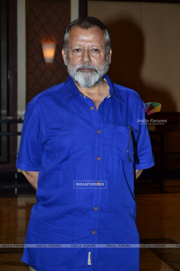 Pankaj Kapoor poses for the media at the Book Launch of Haider, Omkara and Maqbool