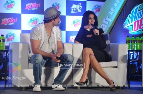 Katrina Kaif addresses at the Bang Bang's Promotional Event for Mountain Dew