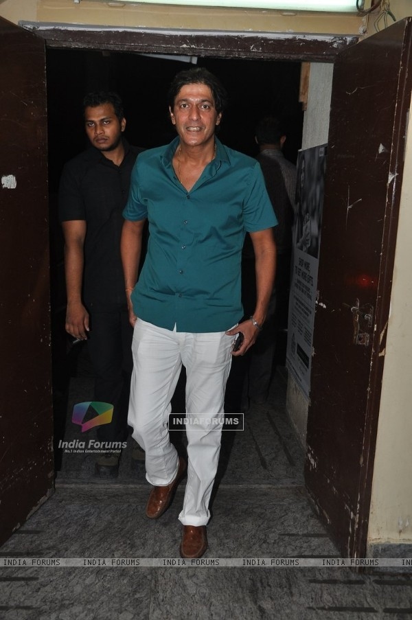 Chunky Pandey was at the Bang Bang special screening hosted by Hrithik Roshan