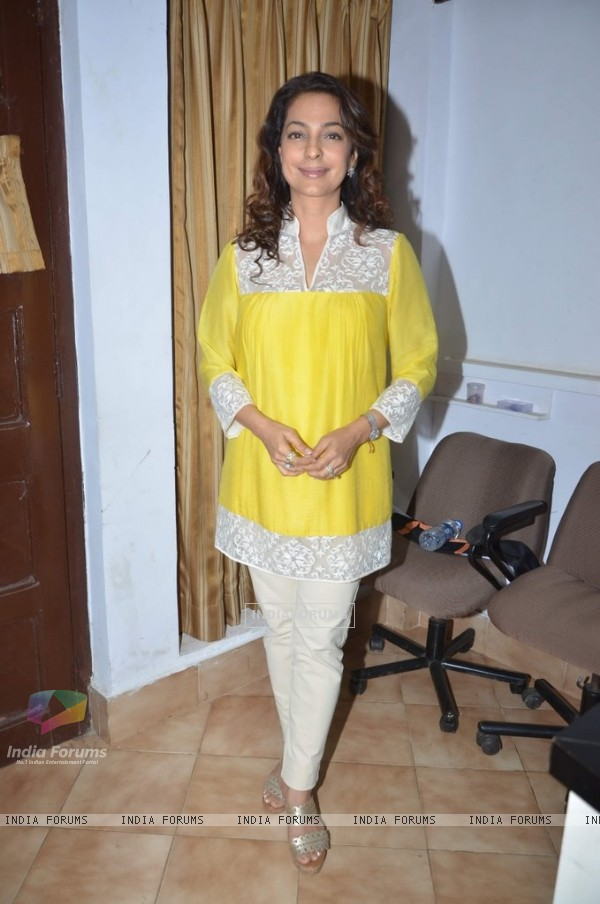 Juhi Chawla poses for the media at Dr. Devra Davis Book Launch