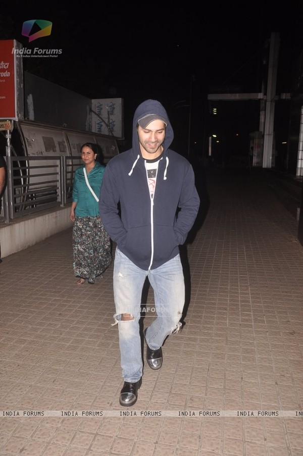 Varun Dhawan snapped at the Special Screening of Haider