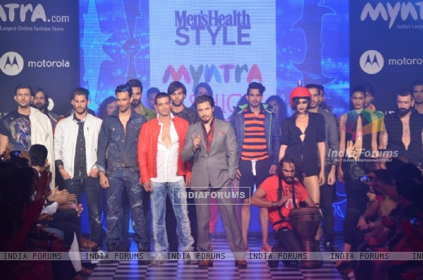 Ali Zafar walks for Men's health show at Myntra Fashion Week Day 2