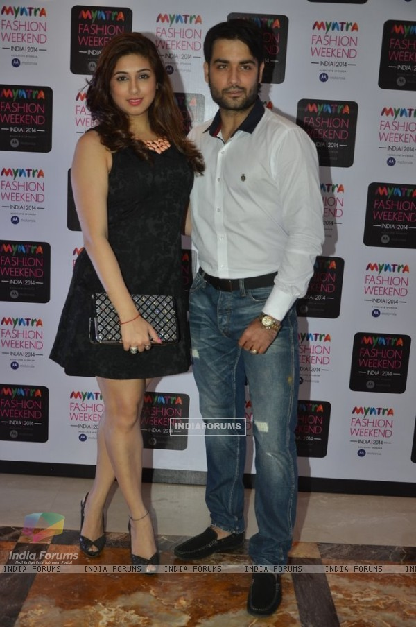 Vahbbiz Dorabjee and Vivian Dsena were at the Myntra Fashion Week Day 3