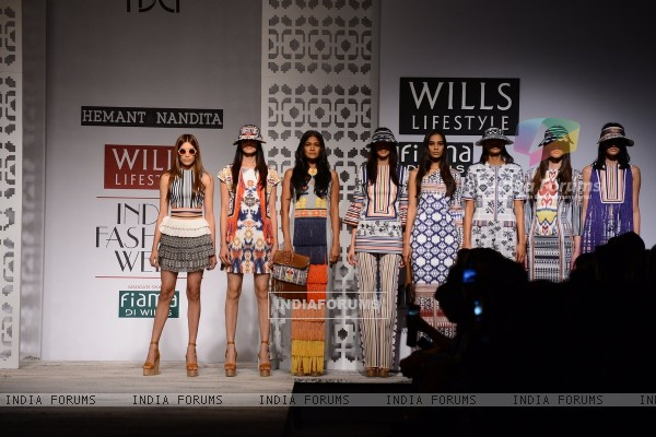 Hemant and Nandita showcase their collection at Wills Lifestyle India Fashion Week Day 1