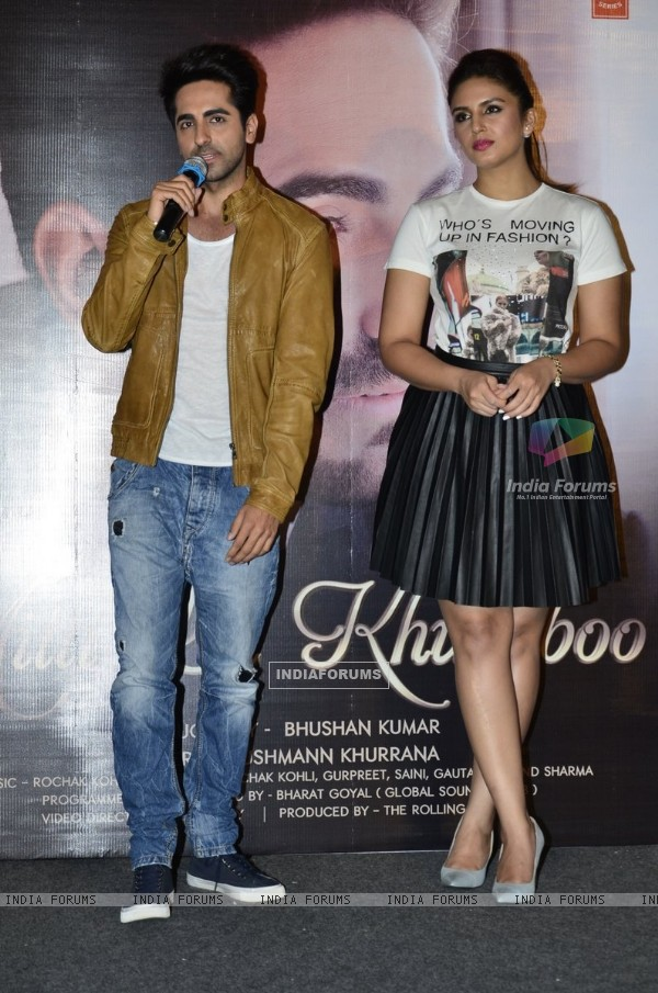 Ayushmann Khurrana addressing the audience at the 'Mitti Di Khushboo' Song Launch