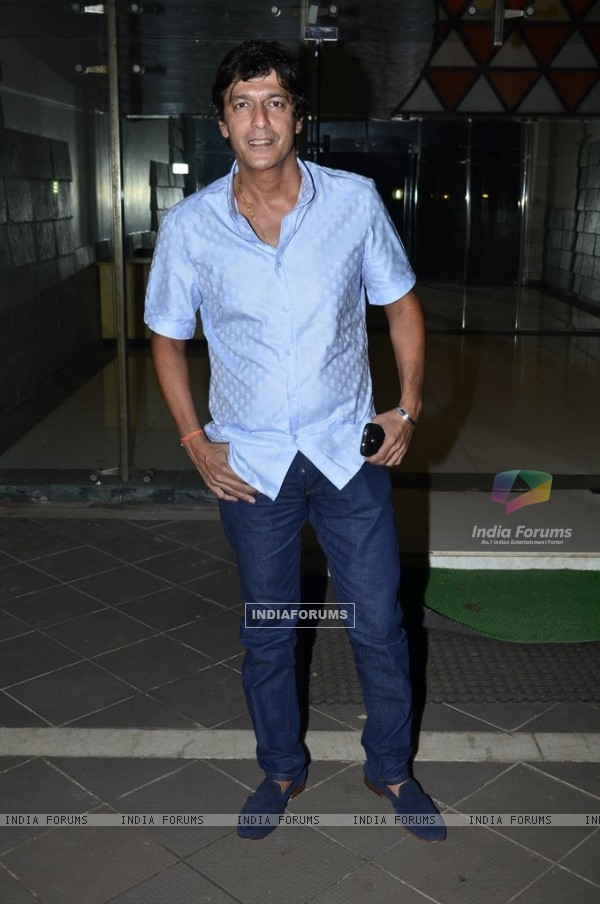Chunky Pandey poses for the media at Sanjay Kapoor's Residence