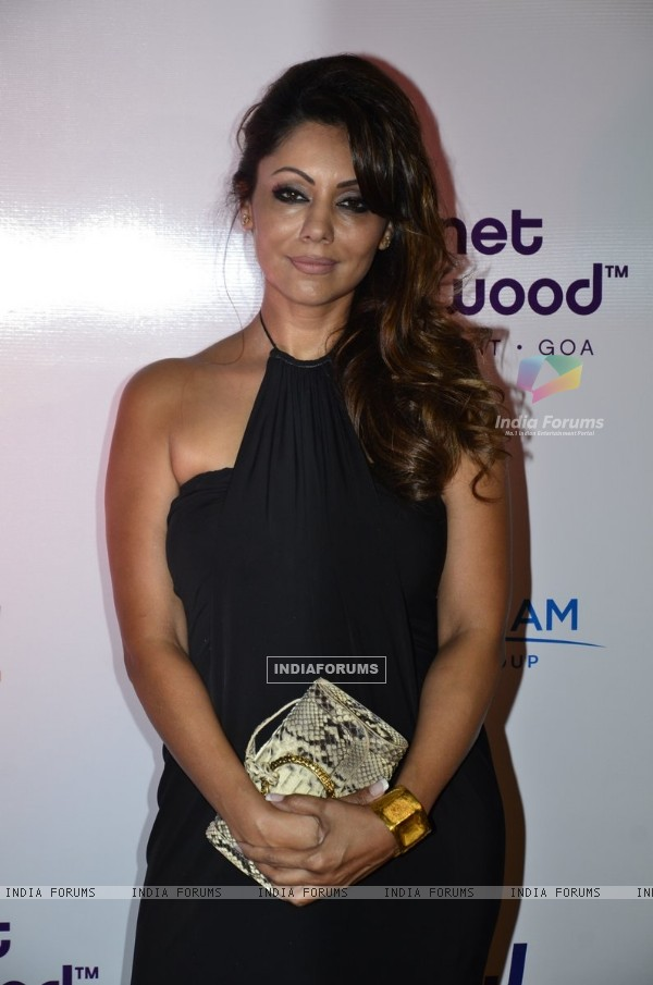Gauri Khan poses for the media at the Launch of Planet Hollywood