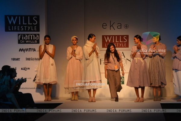 Eka showcases her collection at Wills Lifestyle India Fashion Week Day 2