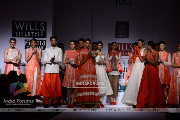 The Virtues show at the Wills Lifestyle India Fashion Week Day 2
