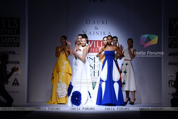 Gauri and Nainika's show at the Wills Lifestyle India Fashion Week Day 2