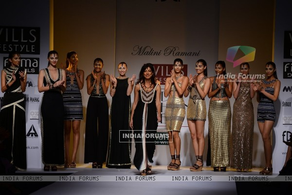 Malini Ramani showcases her collection at Wills Lifestyle India Fashion Week Day 2