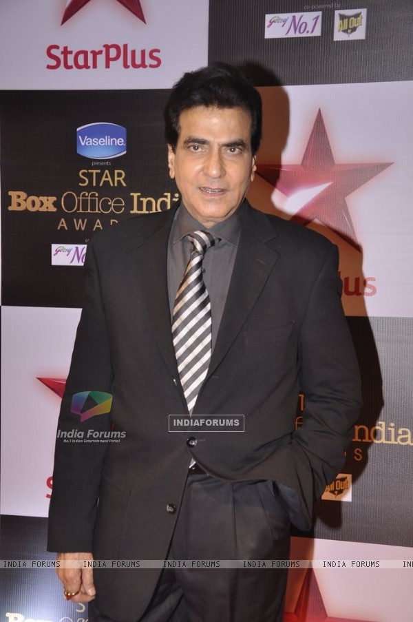 Jeetendra poses for the media at the Star Box Office Awards