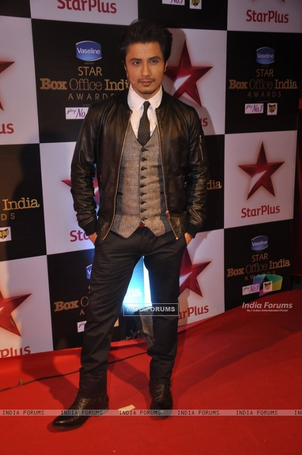 Ali Zafar poses for the media at Star Box Office Awards