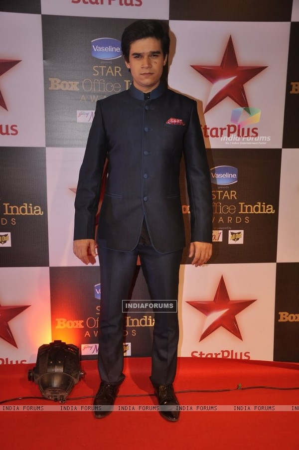 Vivaan Shah poses for the media at Star Box Office Awards