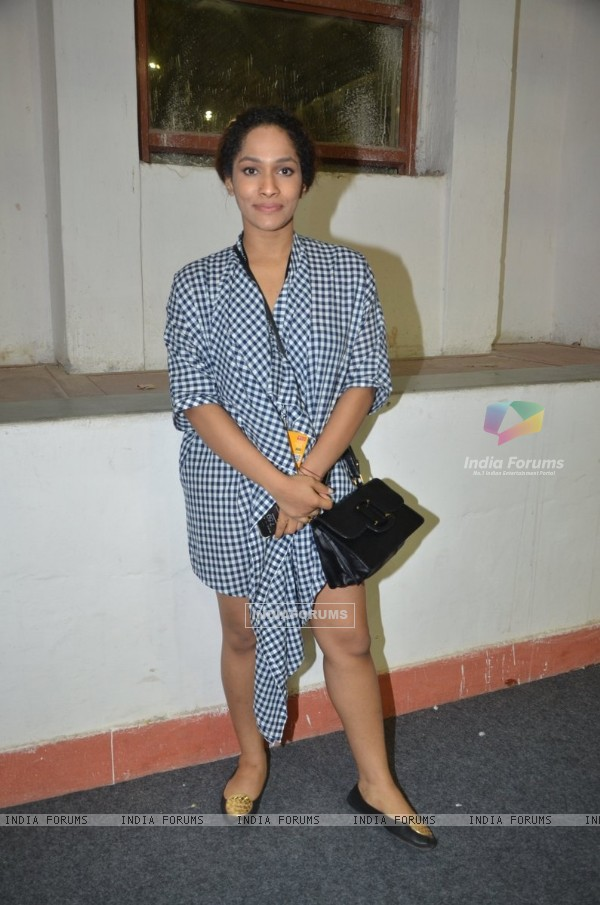 Masaba Gupta was at the Wills Lifestyle India Fashion Week Day 3