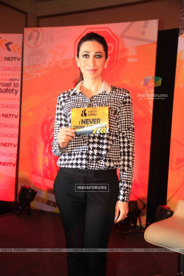 Karisma Kapoor poses for the media at the Promotion of Road to Safety Campaign