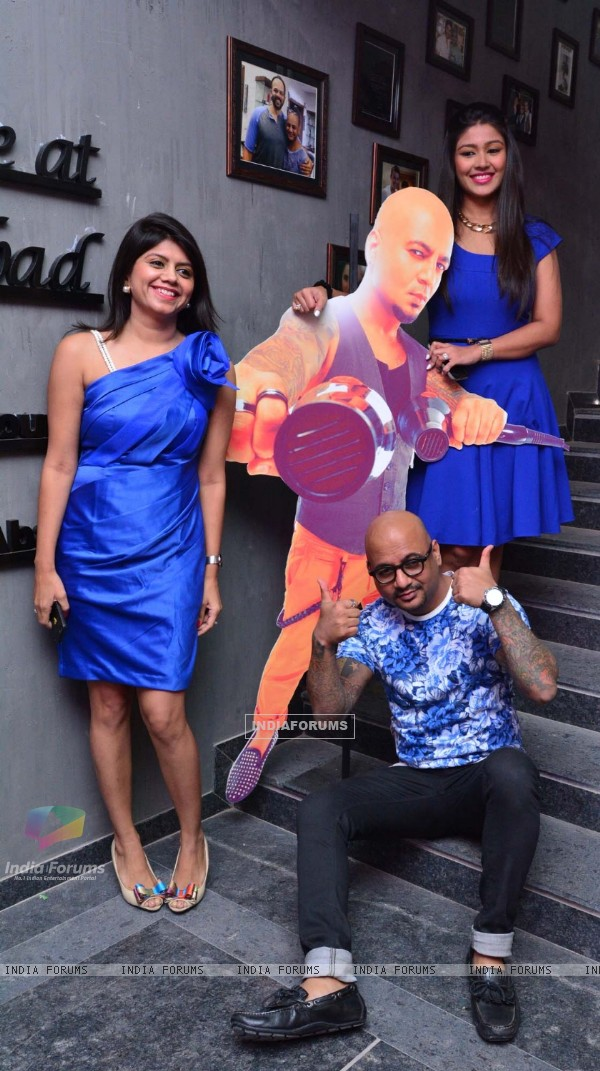 Aalim Hakim poses for the media at the Grand Opening of his New Salon in Ahmedabad